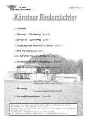ffl Braunvieh - Züchtertag (Seite 4) - Kärntner Rinderzuchtverband
