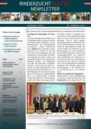 ZAR Newsletter 03/2013 - Kärntner Rinderzuchtverband