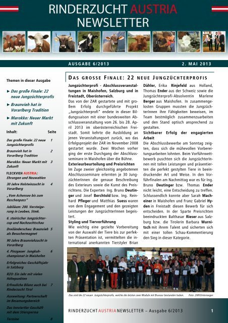 ZAR-Newsletter_Ausgabe-6-2013 - Zentrale Arbeitsgemeinschaft ...