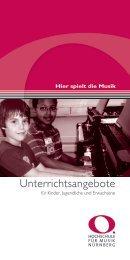 Unterrichtsangebote - KS:NUE - Kultur- und Schulservice Nürnberg