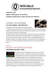 Spielzeit 2011 / 2012 - KS:NUE - Kultur- und Schulservice Nürnberg