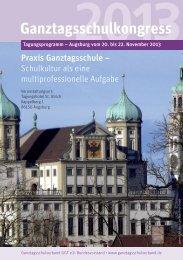 Tagungsprogramm 2013 - Ganztagsschulverband
