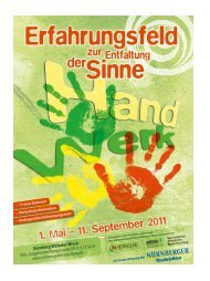 1. Mai – 11. September 2011 - KUF - Amt für Kultur und Freizeit