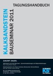 KALKSANDSTEIN BAUSEMINAR 2011 - Bundesverband ...