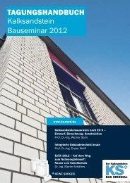 Tagungshandbuch Kalksandstein Bauseminar 2012 - KS* Original
