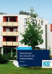 Wohnformen der Zukunft mit Kalksandstein. - KS* Original