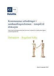 Delrapport – Rogaland - KS