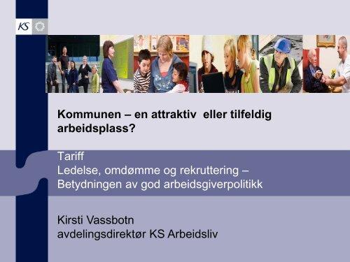 Tariff Ledelse, omdømme og rekruttering - KS