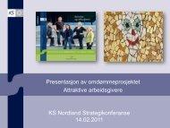 Omdømmeprosjektet og prosjektkommunene - KS