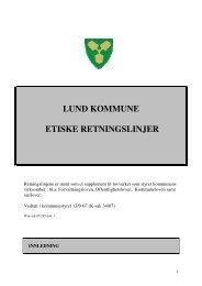 LUND KOMMUNE ETISKE RETNINGSLINJER - KS