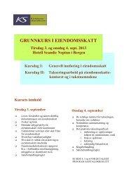 GRUNNKURS I EIENDOMSSKATT - KS