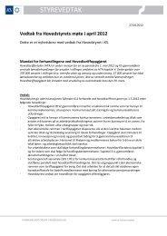 Styrevedtak nr 3/2012 - KS