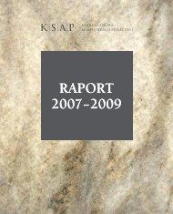 Raport 2007 - 2009 - Krajowa Szkoła Administracji Publicznej