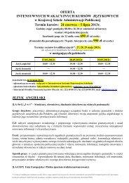OFERTA - Krajowa Szkoła Administracji Publicznej