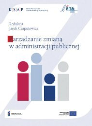 dzanie zmianą - Krajowa Szkoła Administracji Publicznej