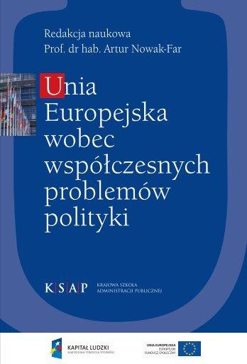 Unia Europejska wobec współczesnych problemów polityki