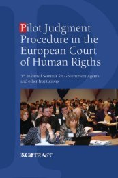 Pilot judgment procedure in the european court of human rights and ...