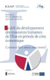 Le défi du développement des ressources humaines de l ...