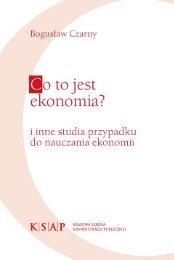 Co to jest ekonomia i inne studia przypadku do nauczania ekonomii