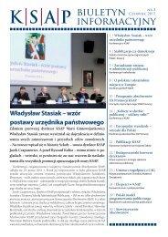 Pobierz biuletyn informacyjny - Krajowa Szkoła Administracji ...