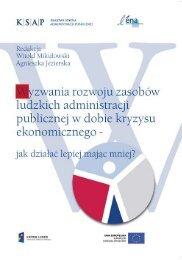 Wyzwania rozwoju zasobów ludzkich administracji publicznej w