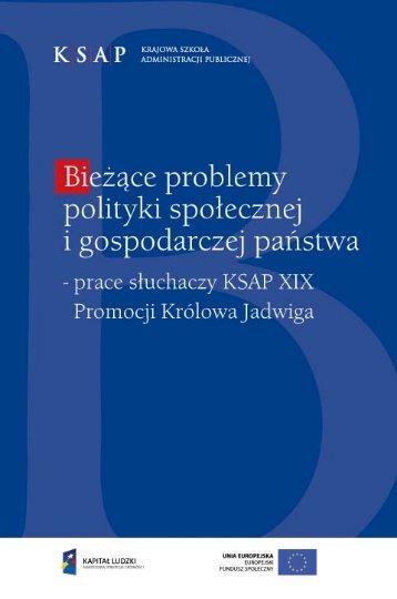 261;ce problemy polityki społecznej i gospodarczej pa&#324