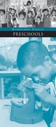 PRESCHOOLS - Kamehameha Schools