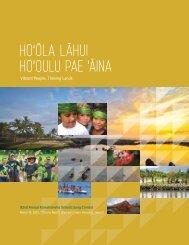 Ho'ola laHui Ho'oulu Pae 'aina - Kamehameha Schools