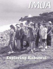 Exploring Kahuwai Exploring Kahuwai - Kamehameha Schools