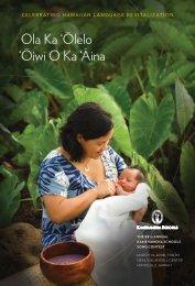 'oiwi o Ka 'aina ola Ka 'olelo - Kamehameha Schools