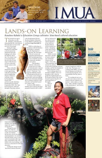 Lands-on Learning - Kamehameha Schools