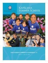 Kapa¯lama Summer School - Kamehameha Schools