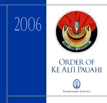 Order of K e Ali'i Pauahi - Kamehameha Schools