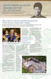 Kamehameha Schools Annual Report