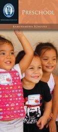Preschool - Kamehameha Schools