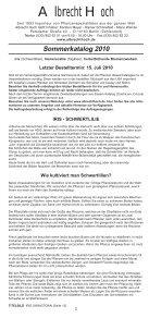 Sommerkatalog 2010 - Albrecht Hoch - Seite 2