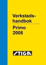 Verkstads- Primo 2008 handbok