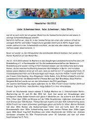 Newsletter 06/2012 - KSC-Schwimmen