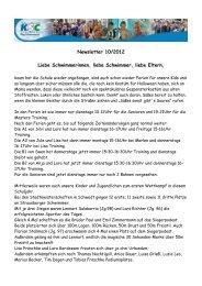 Newsletter 10/2012 - KSC-Schwimmen