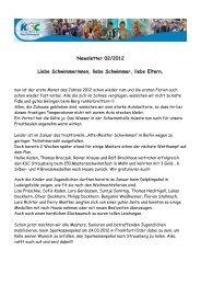 Newsletter 02/2012 - KSC-Schwimmen
