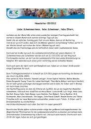 Newsletter 05/2012 - KSC-Schwimmen