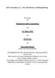 KSC Strausberg e - KSC-Schwimmen
