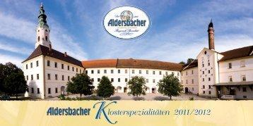 losterspezialitäten 2011/2012 - Brauerei Aldersbach