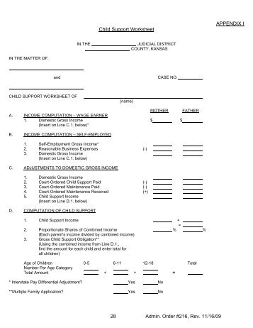 Worksheet B Shared Responsibility Monthly Child