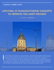 applying jit manufacturing concepts to improve the audit process