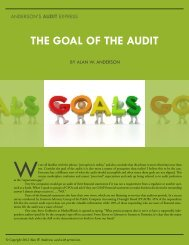 THE GOAL OF THE AUDIT