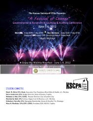 a schedule of events and speaker bios. - Kansas Society of CPAs ...