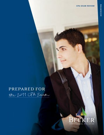 """""""Prepared for the 2011 CPA Exam"""" Brochure"""