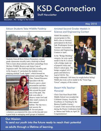 May 2010 Staff Newsletter - Kennewick School District