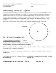 Determining Latitude and Longitude Part A: Determining Latitude